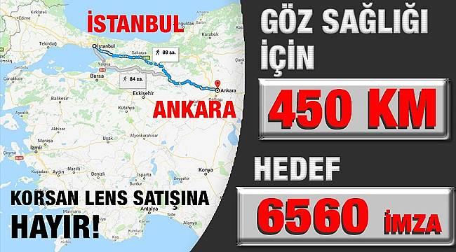 Pazartesi İstanbul'dan Ankara'ya yürüyecek