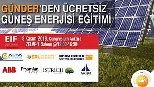 ÜCRETSİZ güneş enerjisi eğitimi verecek