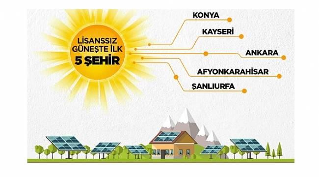 Güneşten kendi elektriğini üreten ilk 5 il bunlar!