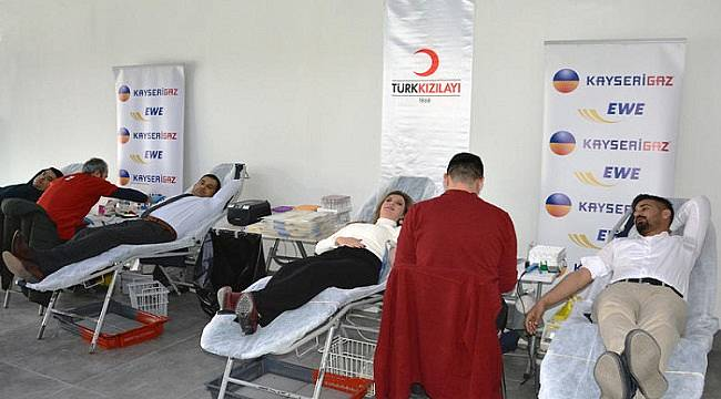 Kayseri Doğalgaz Kan Bağışı kampanyası düzenledi