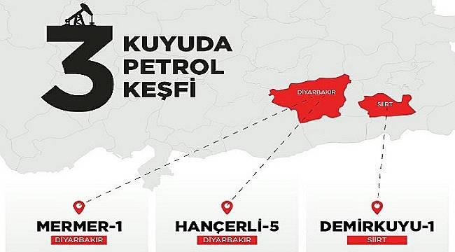 Diyarbakır ve Siirt'te 3 kuyuda petrol bulundu