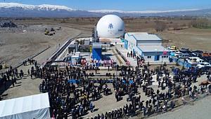 Erzincan'da Çöp Gazından elektrik üretecek tesis açıldı
