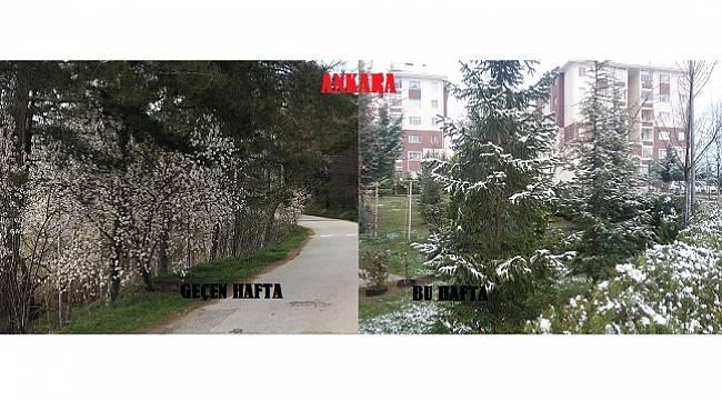 ANKARA: Geçen hafta bahar bu hafta kış