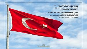 Today, on July 15 Democracy and National Unity Day