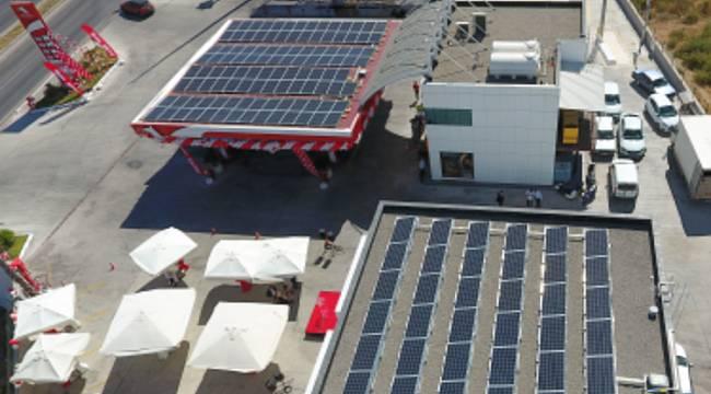 Güneş enerjili istasyon açtı!