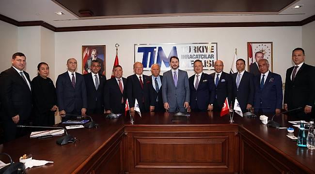 Hazine ve Maliye Bakanı TİM'i ziyaret etti