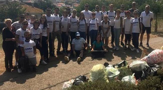 450 kilo atık topladı: ENKA GÖNÜLLÜLERİ