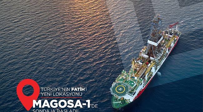 Magosa-1'de sondaja başladı!