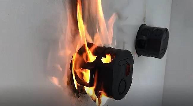Yerlielektrikli otomobilin yangın söndürme sistemine talip (VİDEOLU)