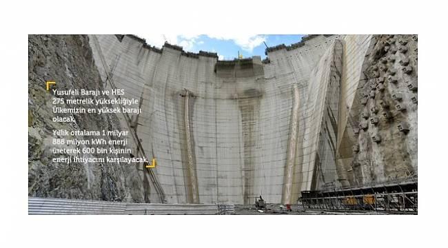 Yusufeli Barajı yüzde 50 tamamlandı!