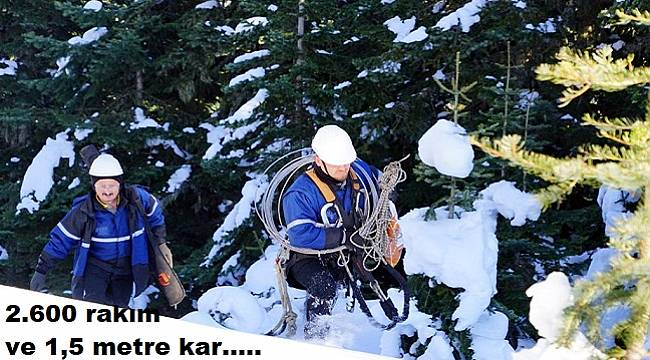 2600 RAKIM: 1,5 metre karda Başkent EDAŞ ekiplerinin zorlu mücadelesi