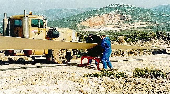 ENSİA paylaştı: Türkiye'nin ilk rüzgar enerjisi santrali montaj süreci...