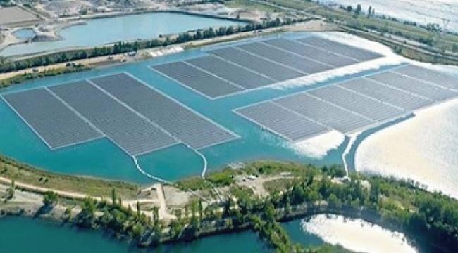 Yüzer Güneş Santrali: 10 bin kişiye elektrik verecek