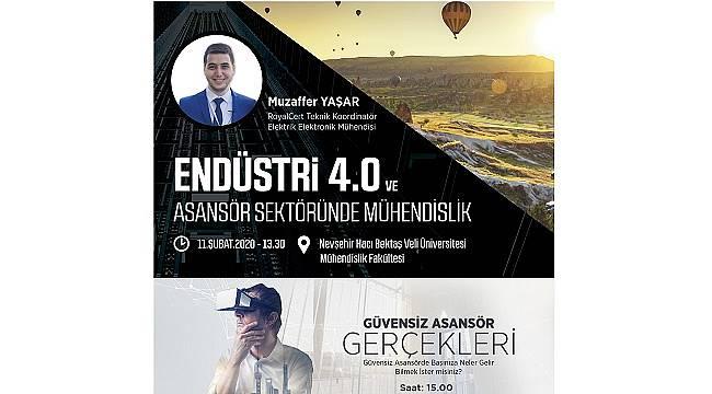 """""""Endüstri 4.0 ve Asansör Sektöründe Mühendislik Konferansı""""nın Yeni Durağı Nevşehir"""