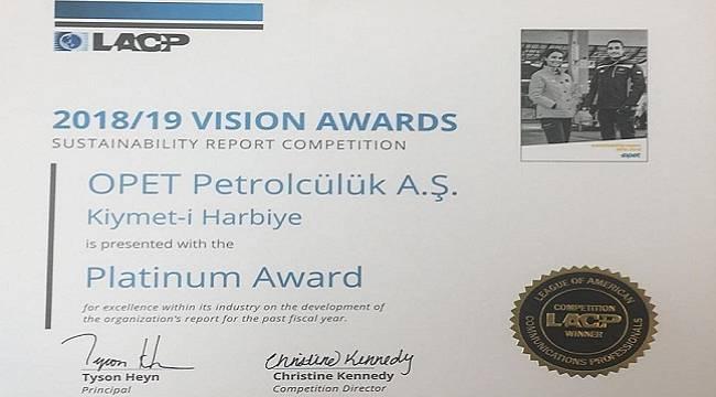 OPET 'Sürdürülebilirlik Raporu' ABD'den 3 ödül aldı!
