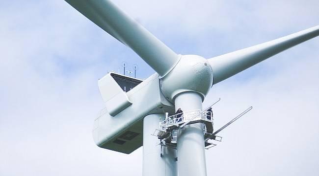 Rüzgar türbinlerine yapılan bakım ve hizmet...