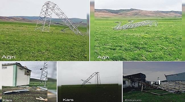 Fırtına Elektrik Direkleri'ni bu hale getirdi!