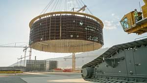 Akkuyu Nükleer: Birinci güç ünitesi reaktör binasının iç koruma kaplamasının ikinci katının montajı tamamlandı!