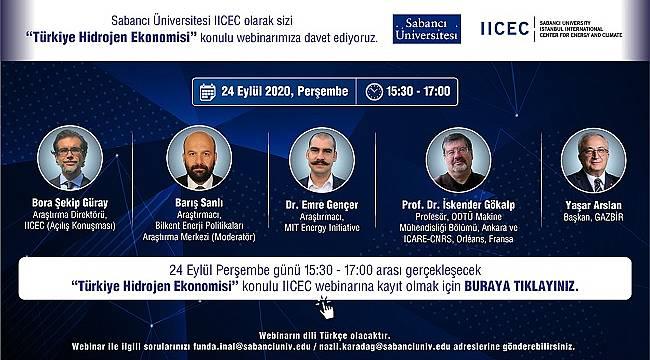24 Eylül'de: 'Türkiye Hidrojen Ekonomisi' konuşulacak - Kayıt Yaptırabilirsiniz