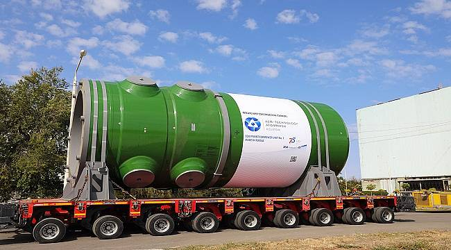 Akkuyu NGS İçin Üretilen Reaktör Basınç Kabını Türkiye'ye Gönderdi