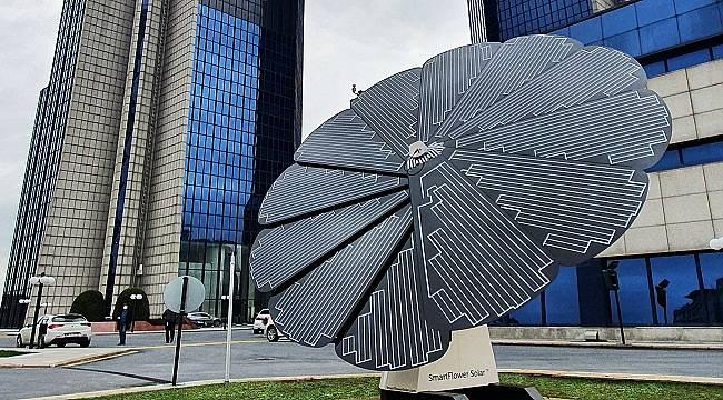 Smart flower 'installed solar panel