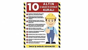 MTA - İş sağlığı ve güvenliği için 10 altın kural!