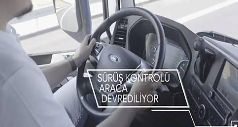 Türkiye'de bir ilk: KAMYON KENDİ KENDİNE GİDİYOR