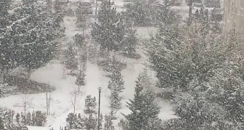 BUGÜN ANKARA: Kar - Güneş ve an itibariyle şiddetli kar