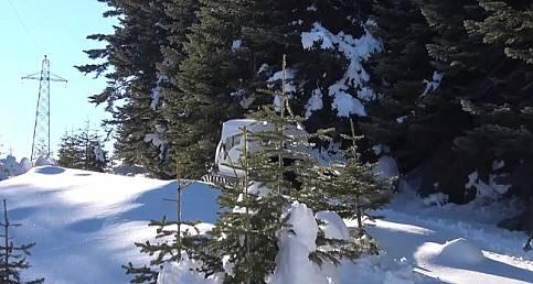 FİLM GİBİ: 1,5 metre karda elektrik arızalarına müdahale edecek